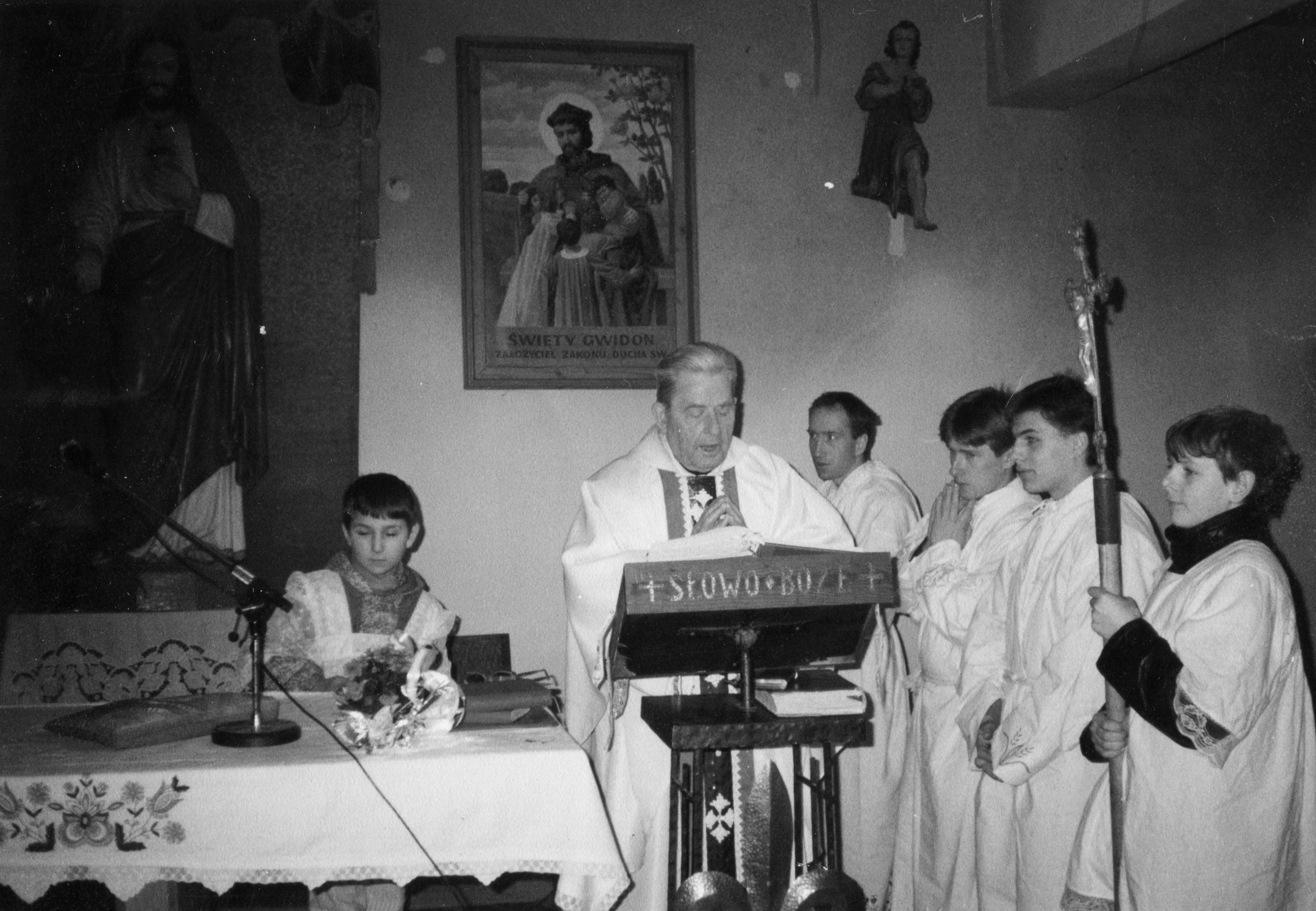 Msza òw. w kaplicy na Wzg¢rzu sp. Wiesàaw òp. Sylwester